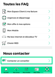 Contacter le Service Client RED by SFR