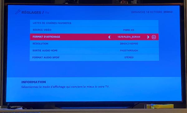 Red By Sfr Reglage Du Format D Affichage Sur Box Tv Plus Infos Questions