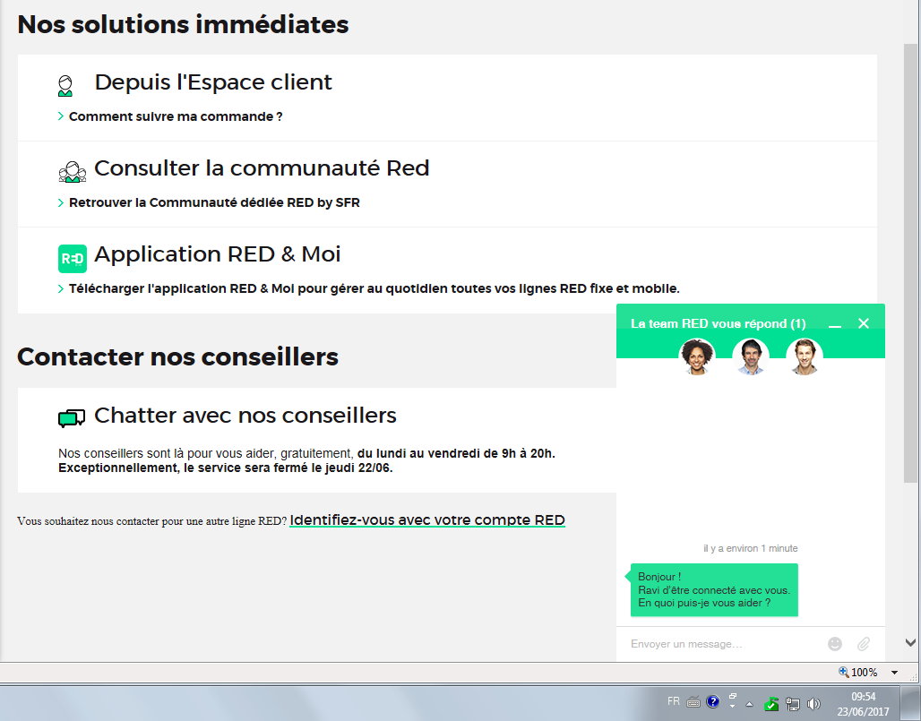 R solu red by sfr annulation commande aide conseils - Annulation commande cuisine ...