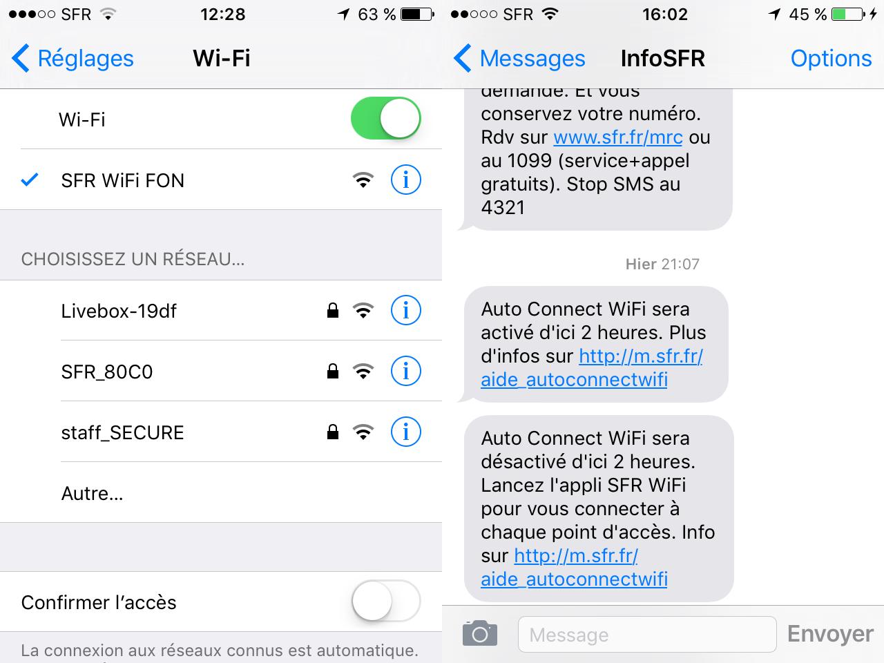 sfr wifi fon gratuit