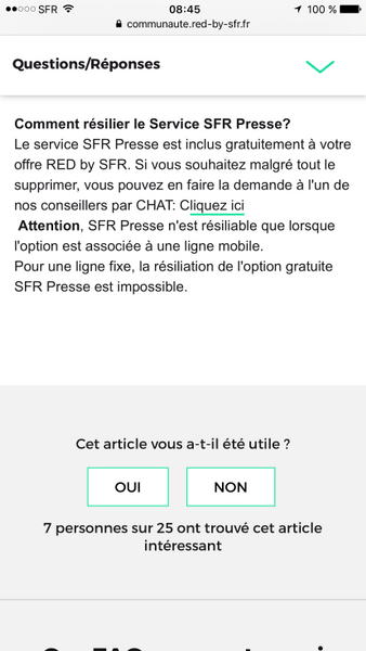 Resolu Red By Sfr Comment Resilier L Option Sfr Presse Page 26